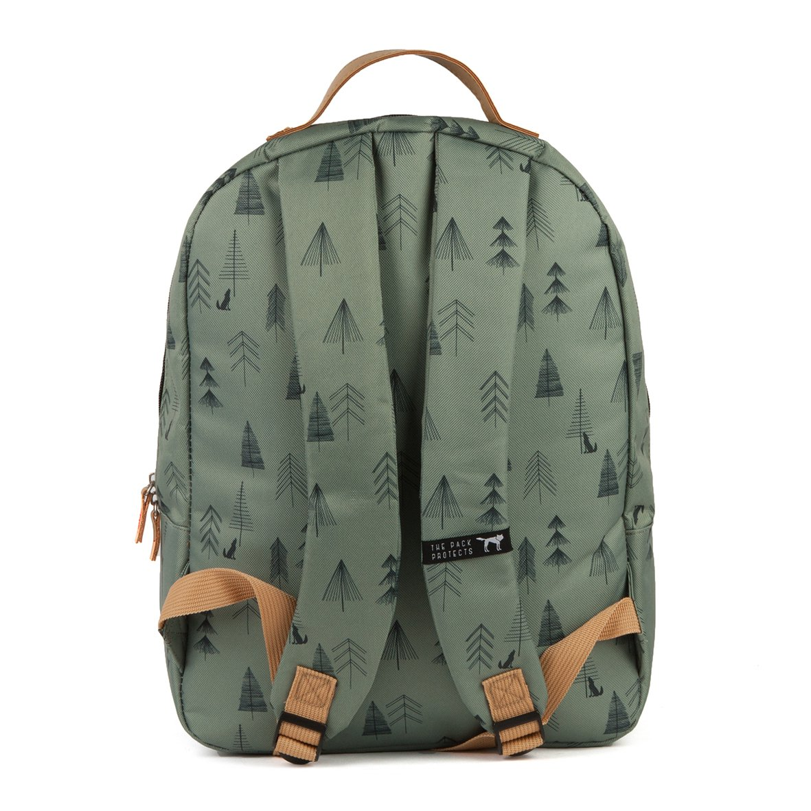 Рюкзак The pack society Classic Backpack (Green Tree Allover-74)